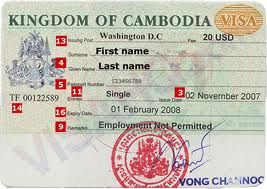 The procedure for a Cambodian Visa-on-Arrival in Vinh Xuong