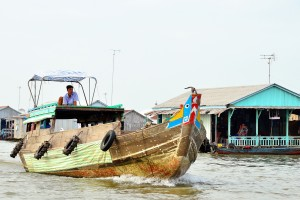 Mekong boat with eyes