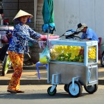 fruit sinh to stall in Chau Doc