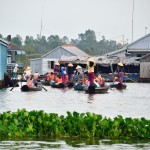 rowing boats for travellers in Chau Doc