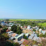 view Cambodian border from Sam Mountain, Chau Doc, An Giang